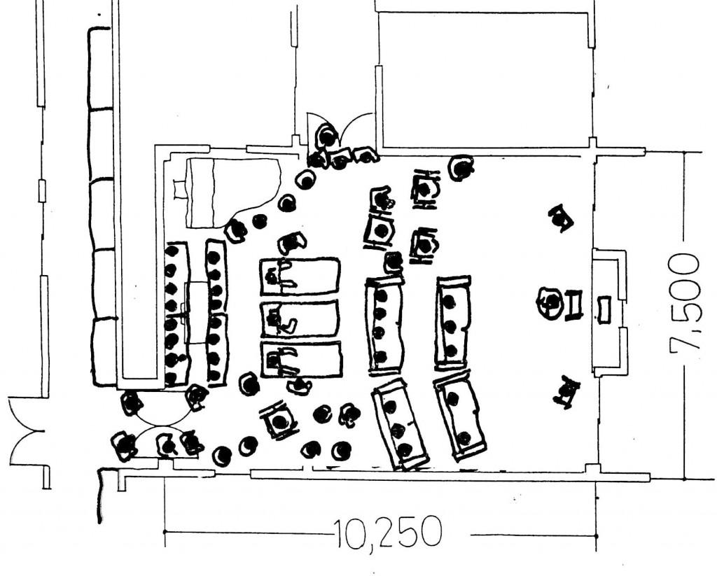 方場面㸧卒論時の観察記録資料(ホスピスチャペルの使われ方場面)