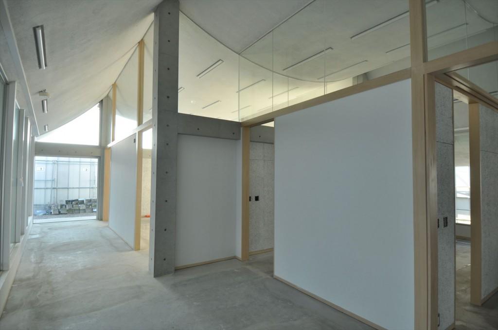 低層棟室内(施工中)。