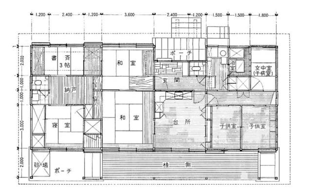 内田邸平面図