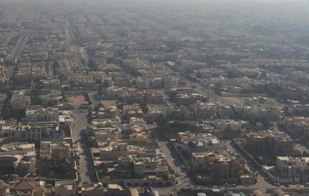 リヤド市内の住宅群、筆者撮影
