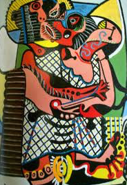 The Kiss 1925  出典 http://www.wikiart.org/en/pablo-picasso#supersized-neoclassicist-surrealist-224566