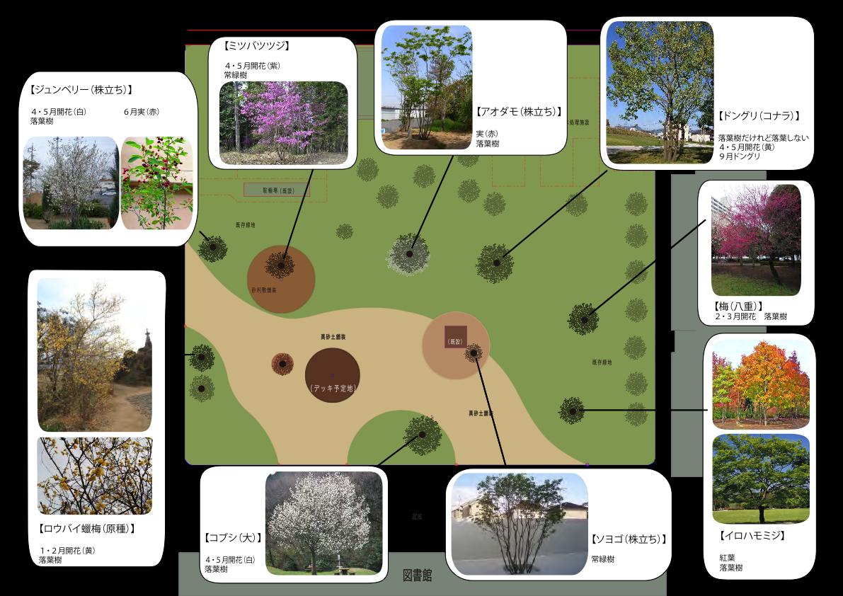 広場計画の図面