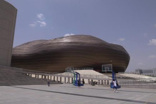 MAD Architects「オルドス博物館」(内モンゴル自治区オルドス市、2011年)撮影:筆者