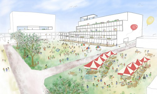 野洲駅南口の市民広場の提案