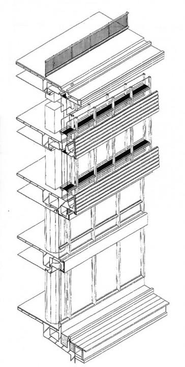 図5:NCRビルディング二重サッシ図