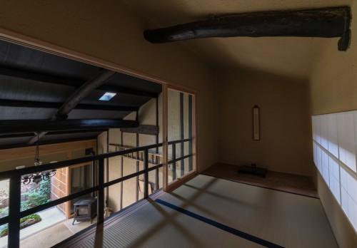 fig13 二階の茶室からの庭の眺め