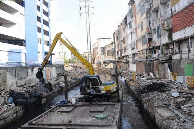 サパーンレク市場、解体中 出典:Bangkok Metropolitan Administration