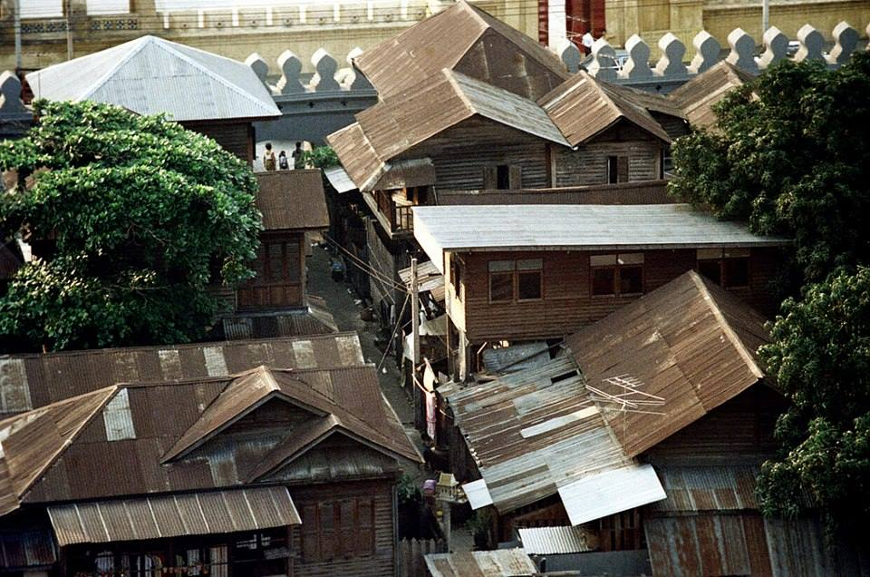 マハカーン要塞内コミュニティ(1968年) 出典:Lek-Prapai Viriyahpant Foundation