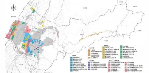 (重大都市計画分布図 出展:台中市政府)