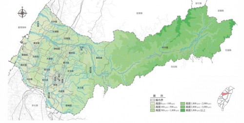 (地形図 出展:台中市政府)