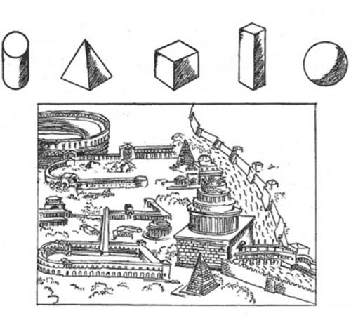 Fig1:ル・コルビュジェのスケッチ 出典『建築を目指して』鹿島出版会