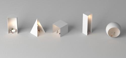 Fig2:ル・コルビュジェのスケッチをもとに作成したかたちの空間イメージ