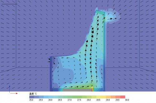 Fig4浴室の換気シミュレーション  作成:高瀬幸造